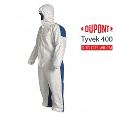 Disposable Coverall DuPont Tyvek 400 D TD127S WB option CM