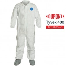 Disposable Coverall DuPont Tyvek 400 TY121S WH option NS