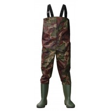 Camo PVC Chest Wader PCW 004