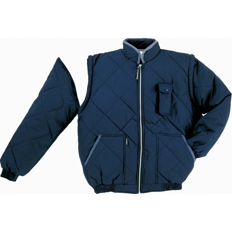 Insulated jacket with detachable sleeves NEW DELTA PANOPLY