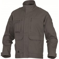 Zip jacket with wind strap, 5 pockets, sreych, Twill 97% cotton 3% elastane 290 g / m MOVES PANOPLY