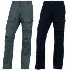 Pants with zipper, adjustable waist, 7 pockets, sreych, Twill 97% Cotton 3% elastane 290 g / m MOPAN PANOPLY