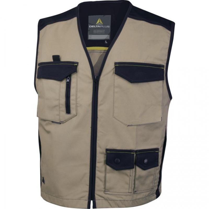 Beige vest with lots of pockets - 65% polyester 35% cotton 245 g / m MSGIL PANOPLY