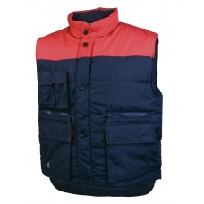 Warm vest, a large number of pockets 65% polyester 35% cotton SIERRA PANOPLY